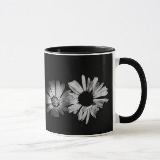 Black & White Flowers Mug
