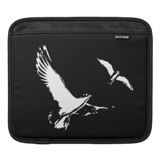 Black & White Flying Birds - Tablet sleeve iPad Sleeves