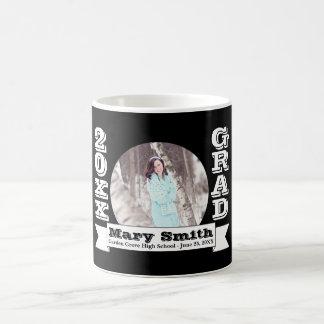 Black & White Formal Graduation Announcement Coffee Mug