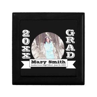 Black & White Formal Graduation Announcement Gift Box