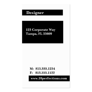 Black & White - Freelancing Pack Of Standard Business Cards