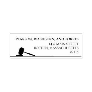Black & White Gavel Attorney Custom Name Self-inking Stamp
