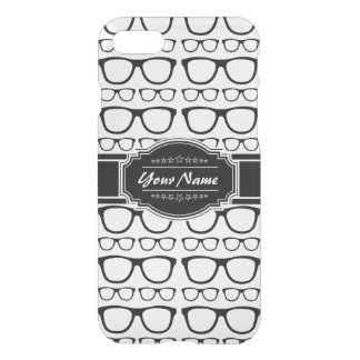 Black & White Geek Nerd Glasses Personalized iPhone 7 Case