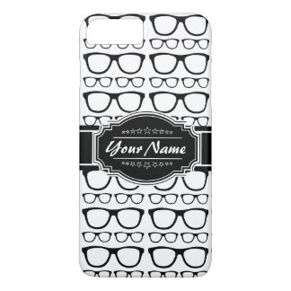 Black & White Geek Nerd Glasses Personalized iPhone 7 Plus Case