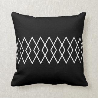 Black & White Geo Diamond Cushion