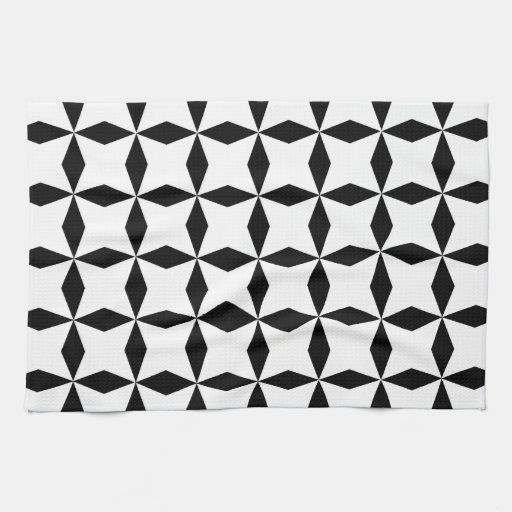 Black & White Geo Hand Towel