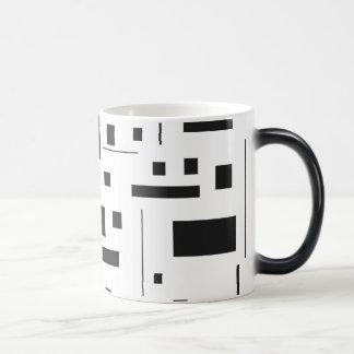 Black & White Geometric Minimal Pattern Futuristic Magic Mug