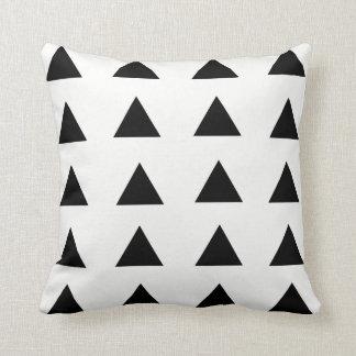 Black & White Geometric Triangle Throw Pillow
