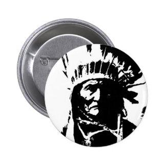 Black White Geronimo Buttons