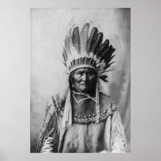 Black & White Geronimo Poster History Photography