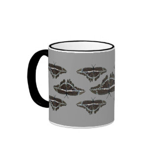 Black White Giant Swallowtail Butterflies Mug Ringer Mug