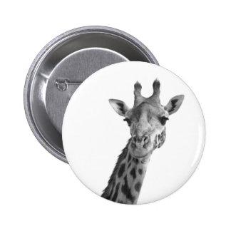 Black & White Giraffe 6 Cm Round Badge