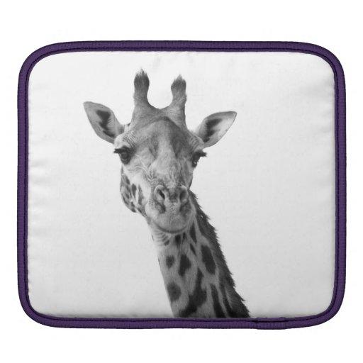 Black & White Giraffe Sleeve For iPads