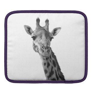 Black & White Giraffe iPad Sleeves