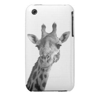 Black & White Giraffe iPhone 3 Case-Mate Case