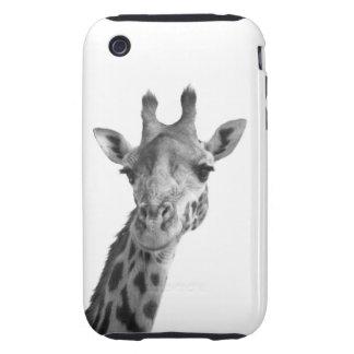 Black & White Giraffe iPhone 3 Tough Case