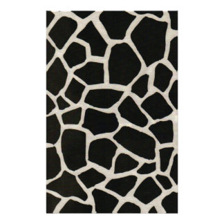 Black & White Giraffe Print Stationery Design