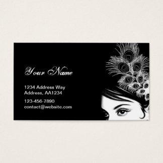 Black & White Girl Business Card
