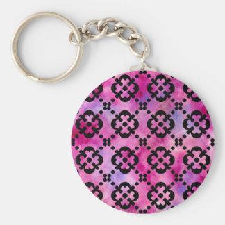 Black & White Girly Cross Keychain