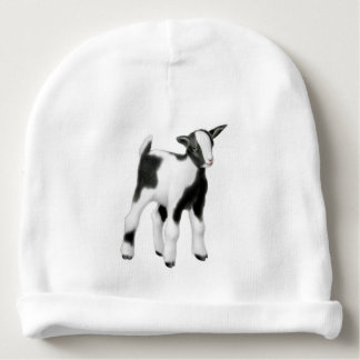 Black White Goat Kid Baby Hat Baby Beanie
