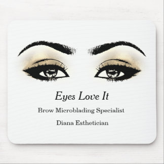 Black White Gold Sepia Branding Beauty Lashes Mouse Pad