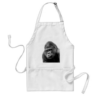 Black White Gorilla Standard Apron