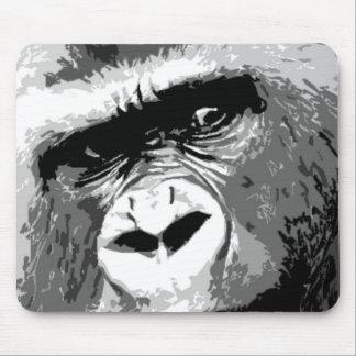 Black White Gorilla Mousepads