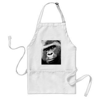 Black & White Gorilla Standard Apron