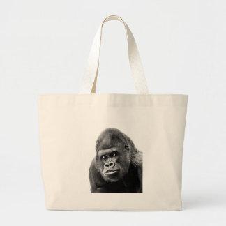 Black White Gorilla Jumbo Tote Bag