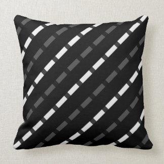 Black white gray dashed lines stripes stripe big cushion