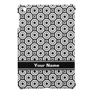 Black/White/Gray Nested Octagons iPad Case