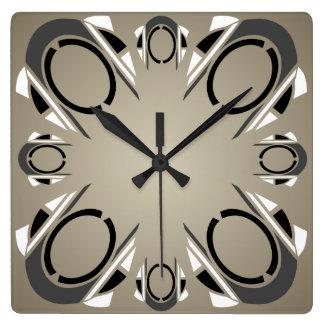 Black White Gray Sepia Art Deco Wall Clock