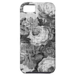 Black & White Gray Tone  Vintage Floral Toile No.4 iPhone 5 Covers