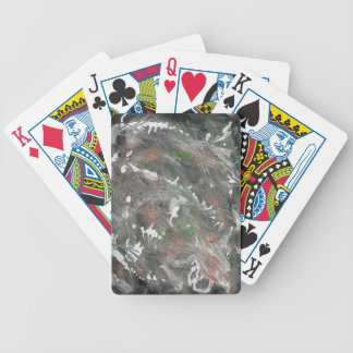 Black, White, Green Background Bicycle Playing Cards
