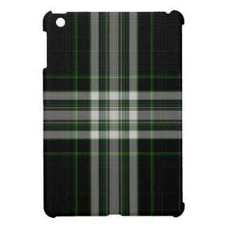 Black White Green Giant Tartan Plaid iPad Mini Cases