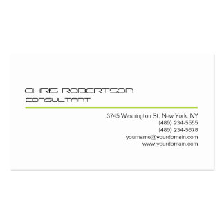 Black White Green Line Attractive Business Card
