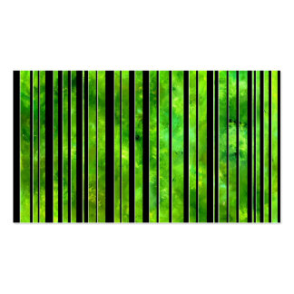 Black & White Green Lines Postage Stamp Pack Of Standard Business Cards