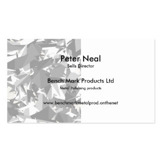 Black,white,grey angles graphic design business/c pack of standard business cards