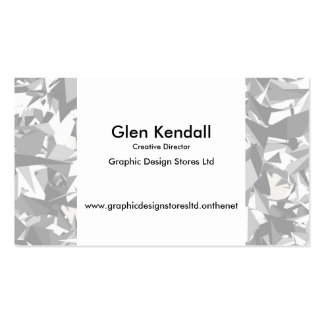 Black white grey angles graphic pack of standard business cards