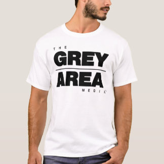 Black/ White Grey Area Apparel T-Shirt