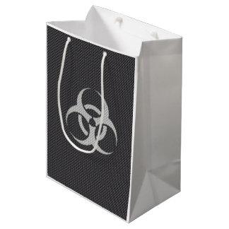 Black White & Grey Toxic Carbon Fiber Medium Gift Bag