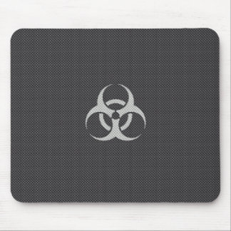 Black White & Grey Toxic Carbon Fiber Mouse Pad