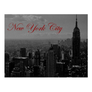 Black White Greyscale New York City Postcard