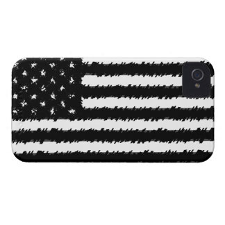 Black/White Grunge American Flag iPhone 4/4S Case