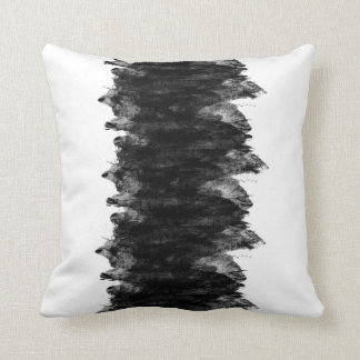 Black White Grunge Cushion