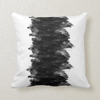 Black White Grunge Throw Pillow