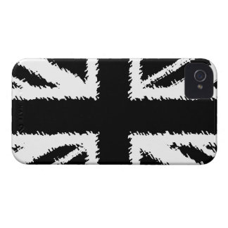Black/White Grunge Union Jack iPhone 4/4S Case iPhone 4 Cover