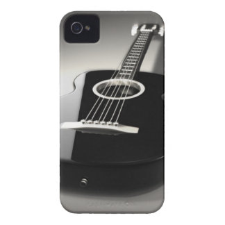 Black & White Guitar iPhone 4 or 4s Cell Phone Cas iPhone 4 Case-Mate Cases
