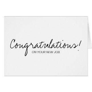 Black & White Handwritten Congratulations Card