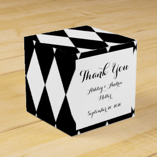 Black White Harlequin Pattern Favour Box